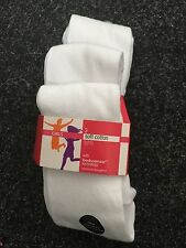 BNWT Marks and Spencers  Girls White Soft Cotton Tights. x3. Age 3-14 Years