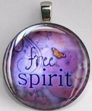 Handmade Interchangeable Magnetic Free Spirit Butterfly #2 Pendant Necklace
