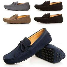 Mens Casual Driving Loafer Slip on Suede Leather Classic Boats Shoes Plus Size