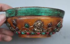 China Miscellaneous antiques boutique collection Beeswax Inlaid Turquoise bowl