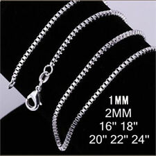 wholesale 925sterling solid Silver lots 5pcs1-2mm snake chain Necklace 16-30inch