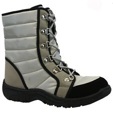 NEW LADIES WOMENS WINTER LACE UP WARM FLEECED LINED SNOW ANKLE BOOTS SHOES SIZE