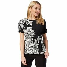 The Collection Womens Black Floral Print Gathered Top From Debenhams