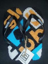 Globe Merkin-Matrix Kids Thongs in Black/Gold/Aqua