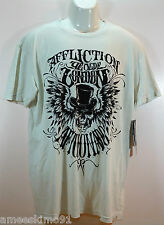 AFFLICTION Mens Tshirt Tee Watson SS Crew A6403 White size sz M L XL NEW NWT