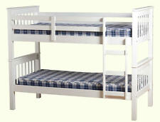 White 3ft Single bunk bed with Mattress Option   Wooden Oak Bunk bed or White