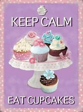 KEEP CALM EAT CUPCAKES BAKE OFF MARY BERRY METAL PLAQUE TIN SIGN RETRO VINTAGE 6