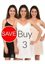 100% Cotton Dress Slip Combination - Spirituelle Celine Three Pack Deal XS - 3XL