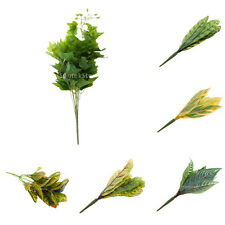 Artificial 10-Fork Leaves Leaf Plants Silk Foliage Grass Craft Garden Decor