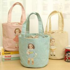 Doll Pattern Portable Insulated Thermal Cooler Lunch Box Picnic Bag Storage Tote