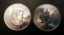 (2) 2014 1 oz Silver Canadian Maple Leaf