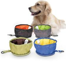Foldable Pet Dog Cat Bowl Food Feeder for Camping Travel Hiking Outing 4 Colors