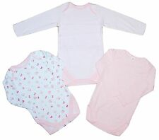 Baby Girls 2 PACK Long Sleeved Body Vests Ex Chainstore 3-6 upto 18-24 Months