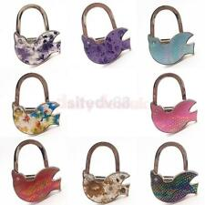 Mini Folding Hanger Peace Dove Crystal Purse Handbag Hook Table Holder 8 Colors