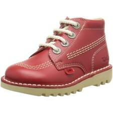 Kickers Kick Hi Infant Red Leather Ankle Boots