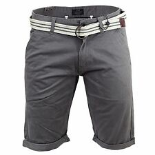 Mens Shorts Smith and Jones Oxford Chino Charcoal Fashion Lightweight Pants
