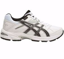 Asics Gel 190TR LEATHER BOY'S CROSS TRAINING SHOES,WHITE/BLACK-Size US 1,2,3 Or4