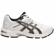 Asics Gel 190TR LEATHER BOY'S CROSS TRAINING SHOES,WHITE/BLACK-Size US 5, 6 Or 7