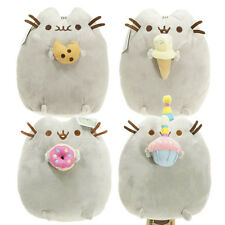 "New Pusheen The Cat With Chocolate Chip Cookie 10"" Cute Stuffed Soft Plush Toy"