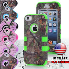 For iPod Touch 5th 6th Gen iPhone 5C Hybrid TUFF IMPACT Case Hard Rugged Cover