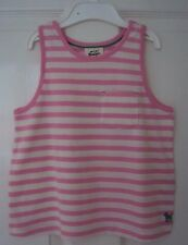 Ex Mini Boden Girls Pink Stripe Vest Tank Top T-Shirt 2 3 4 5 6 7 8 9 10 11 12