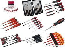 Screwdriver Sets Pozi Phillips Slotted Precision Long Reach VDE Go Through Cheap