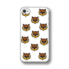 OWL CARTOON PATTERN Hard  Phone Case FITS IPHONE MODELS.