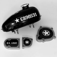 2-Stroke Motorized Bicycle Gas Tank & Engine Decal Kit US Army Graphics