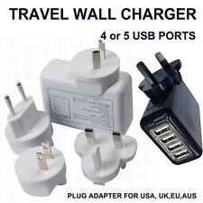 4/5 USB Ports Wall Home Travel Charger Adapter EU,AU,US,UK Plug for Phone Tablet