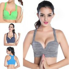 Women Yoga Running Gym Padded Push Up Fitness Tank Top Workout Stretch Sport Bra