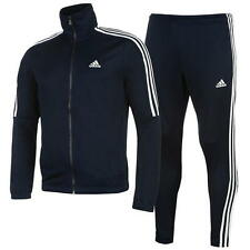 Adidas Mens Tiro Poly Tracksuit Navy/White New With Tags