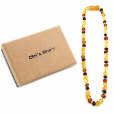 Baltic Teething Necklace for Baby (Multicolor) - 3 Sizes - Gift Box