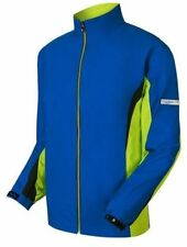 NWT FootJoy Hydrolite L/S Rain Jacket, 23819, Nautical Blue, Lime, Black