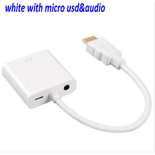 HDMI Male to VGA Converter Adapter + USB Audio Cable for PS3 PC XBOX HDTV 1080P