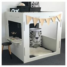 NEW INDOOR CASTLE CUBBY HOUSE + 2 FREE PLAY FURNITURE - 5 DESIGNS TO CHOOSE