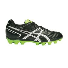 Asics Lethal Shot CS-4 JUNIOR FOOTBALL BOOTS,BLACK/WHITE /GREEN-Size US 1,2 Or 3