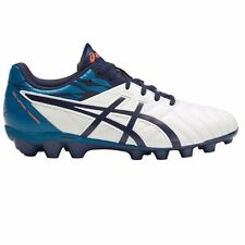 Asics Lethal Tigreor-9 IT JUNIOR FOOTBALL BOOTS, WHITE/BLUE/ORANGE- US 5, 6 Or 7