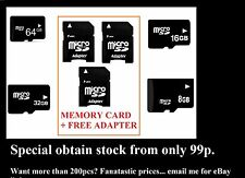64GB 32GB 16GB 8G MICRO SD HC ADAPTOR GENERIC MEMORY CARD MOBILE PHONE CAMERA 10