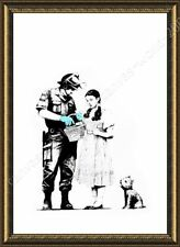 FRAMED Poster Banksy Soldier Searching Girl Banksy Framed Wall Art Framed Print