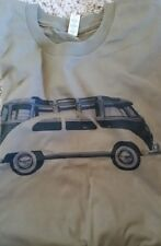 Men's White Military Green Vintage VW Volkswagen Bus Bug Tee T Shirt L XL New 2X