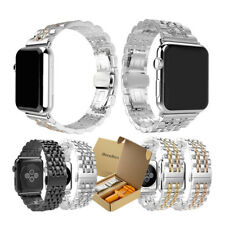 Bandkin Stainless Steel Link Strap & Tool Watch Band for Apple Watch iWatch