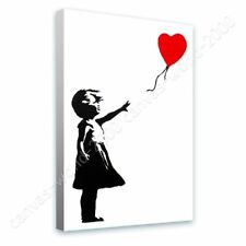 READY TO HANG CANVAS Balloon Girl Banksy Framed Paints Framed Decor