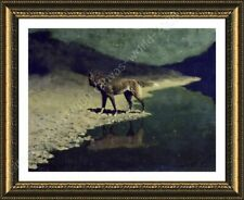 FRAMED Poster Moonlight Wolf Frederic Remington Oil Painting Print For Bedroom