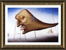 Alonline Art - FRAMED Poster Sleep Face Salvador Dali Framed Art Framed Decor