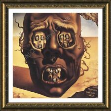 Alonline Art - FRAMED Poster The Face Of War Skull Salvador Dali Framed Decor