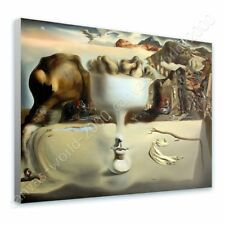 READY TO HANG CANVAS Apparition Of Face Fruit Dish Salvador Dali Framed Paints