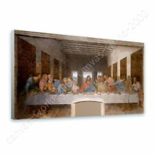 READY TO HANG CANVAS The Last Supper Leonardo Da Vinci Framed Artwork Giclee