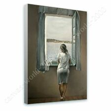 Alonline Art - READY TO HANG CANVAS Woman At The Window Salvador Dali Giclee