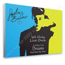 READY TO HANG CANVAS Justin Bieber Never Say Never Alonline Designs Framed Art