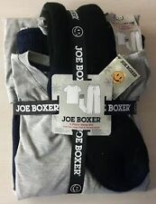 JOE BOXER GREY AND BLUE 3 PIECE SLEEP SET -SOCKS,CREW TEE, LONG CARGO PANTS